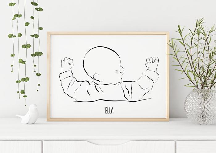 Persoonlijke tekening Newborn