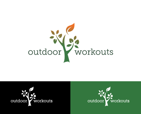 Huisstijl logo outdoor workouts