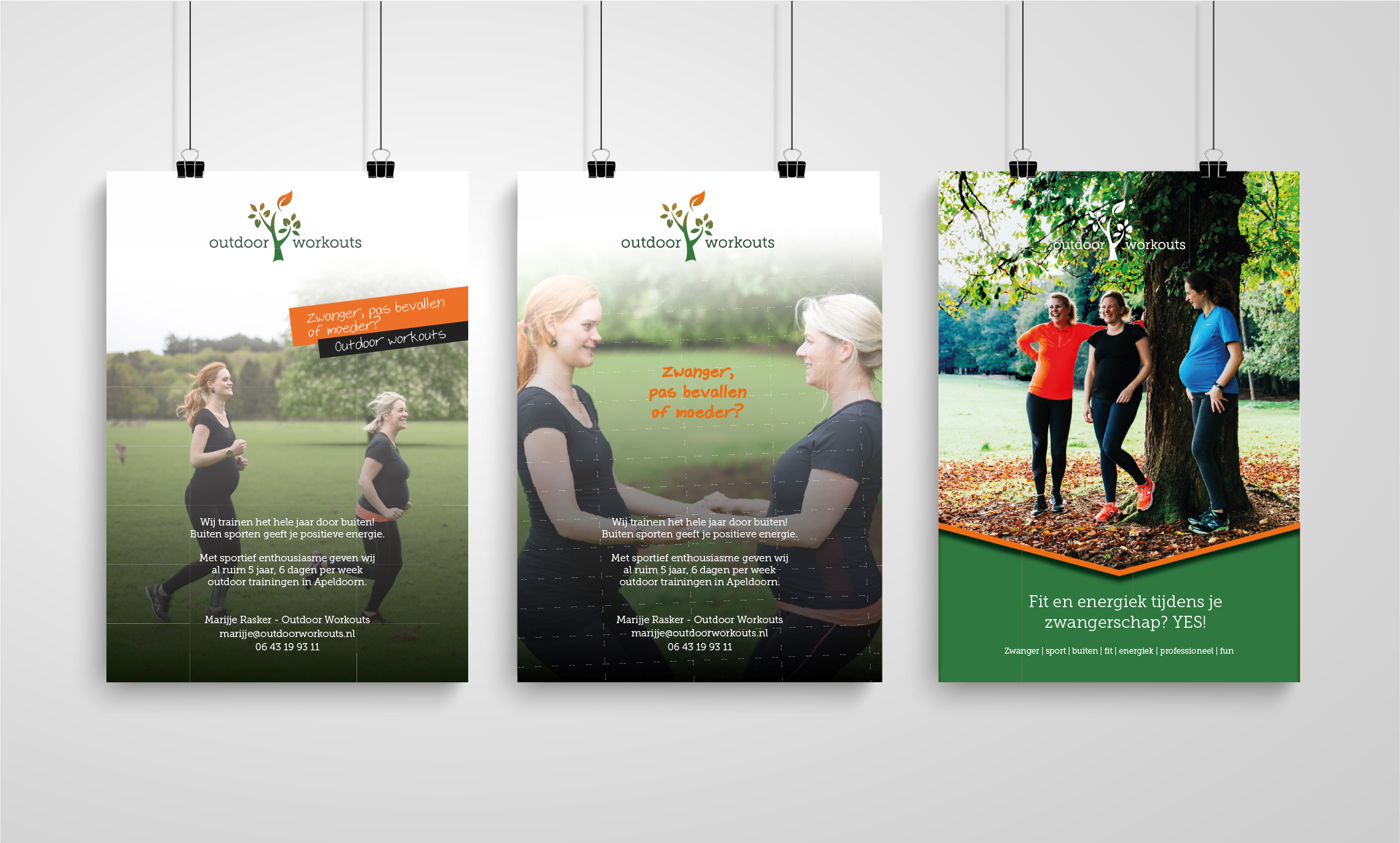 Outdoor Workouts flyers