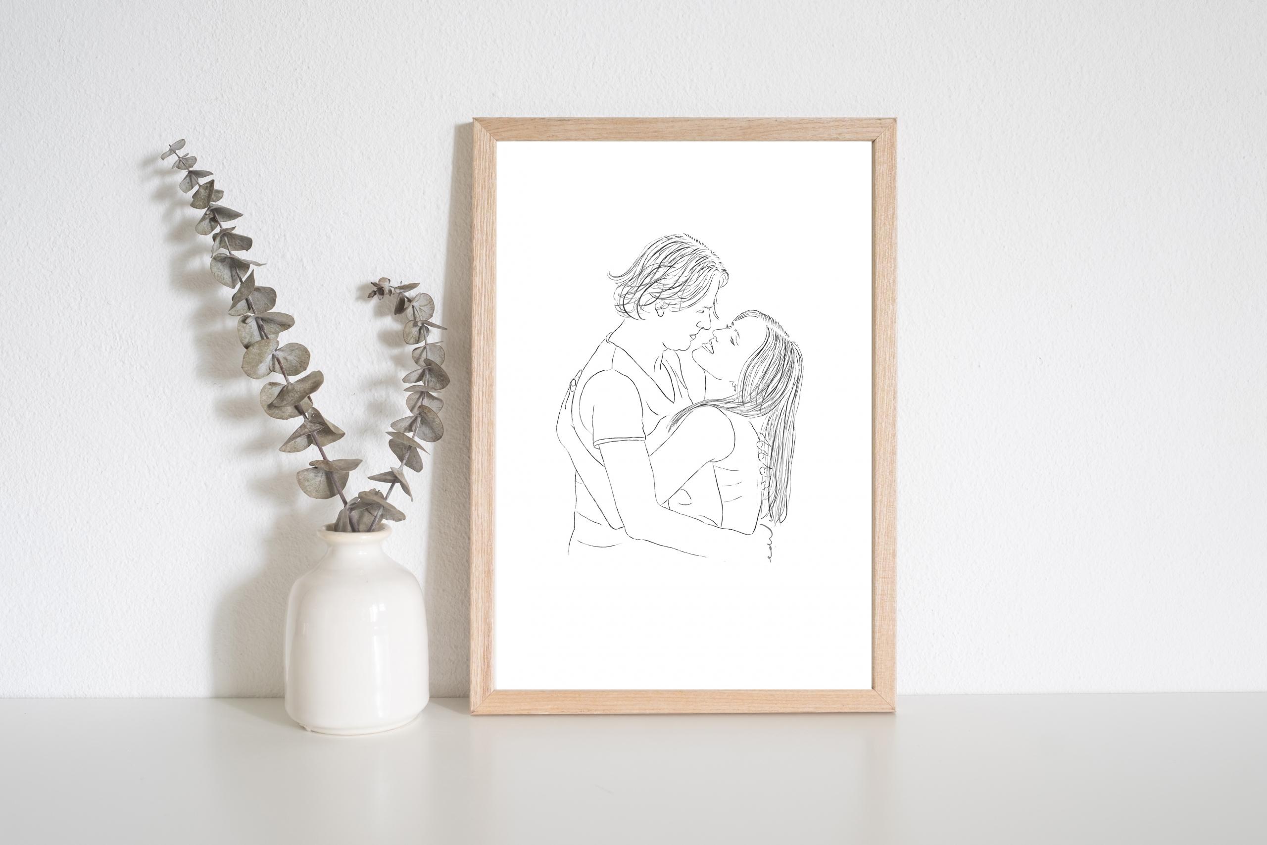 Persoonlijke tekening liefdes